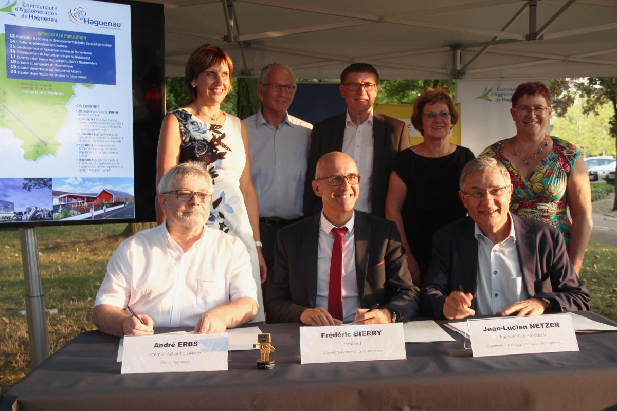 Signature convention partenariale CAH - Ville de Haguenau - CD67
