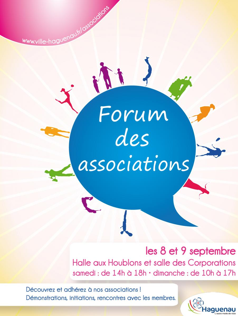 Affiche Forum des Associations 2012.