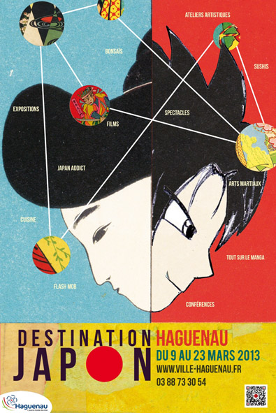 Affiche destination japon